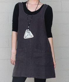 BRYN WALKER  HEAVY  Linen SHORT JUMPER A-line Tunic Dress  S M L XL  KILIMANJARO #BRYNWALKER #Tunic #Versatile