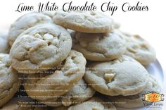 Lime White Chocolate Chip Cookies made with Young Living Lime EO  https://www.facebook.com/theeobistro/photos/a.518292298280074.1073741828.511303652312272/590830014359635/?type=1&theater