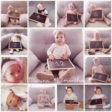 Resultado de imagen para fotos bebes mes a mes