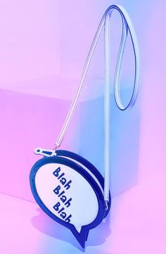 Let your clutch do the talking | Blah Blah Blah Clutch by Sophia Webster