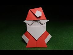 Origami Santa Claus Tutorial Video 摺紙聖誕老人的視頻教程