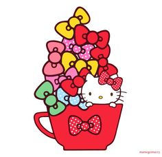 Cup of Bows and Kitty