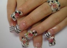 Rhinestone Nails | Nail Art With Rhinestones | Nail Art By Kit