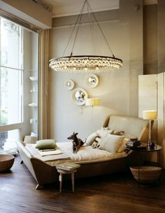Gorgeous Arctic Pear chandelier from Ochre