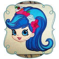 Shopkins Applique Shopkins, Machine Embroidery Designs, Pattern Design, Disney Characters, Fictional Characters, Disney Princess, Appliques, Blue, Art