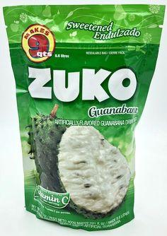 Buy Zuko Guanabana Drink Mix at MexGrocer.com Raspberry Drink, Lemon Drink, Mexican Food Recipes, Snack Recipes, Snacks, Fresco, Peach Drinks, Zuko, Fruit Juice