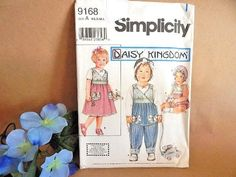Baby Girl Clothing Sewing Pattern Uncut Simplicity 9168 Daisy Kingdom Design
