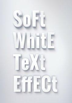 3D-weiße Text-Effekt psd