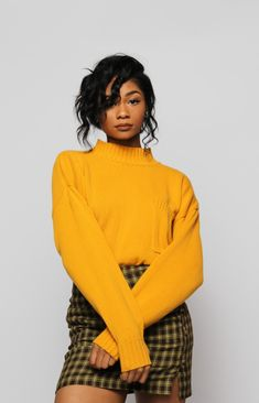 mustard sweater and plaid, classic fall forever Mustard Sweater Outfit, Mustard Yellow Outfit, Mustard Yellow Sweater, Yellow Plaid Skirt, Yellow Outfits, Gingham Skirt, Sweater Skirt, Plaid Skirts, Fashion Guys