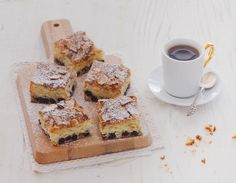 Coconut and Blueberry Squares