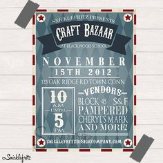Vintage Circus Flyer Personalized by SnicklefritzDesignCo on Etsy, $15.00