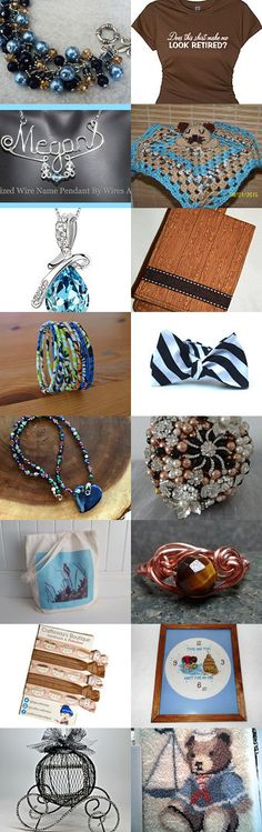 FRU Heart Attack- Browns and Blues by Deb Wise on Etsy--Pinned+with+TreasuryPin.com