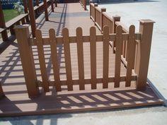 Wpc esgrima para jardim à prova d ' água de madeira baixo jardim esgrima