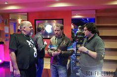 Sci-Fi London 9 : Opening Night - Festival Director Louis Savy chats with writer Stuart Hazel and Joe Utichi by Craig Grobler, via Flickr