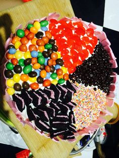 5 in 1 cake creation. 5 topping in 1 blackforest. cherry. Chooco chips. Oreo. cha cha candys.  and sprinkle of candy ♥