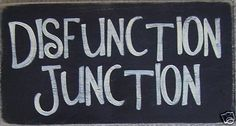 DISFUNCTION JUNCTION Funny Sign Plaque 4 Crazy Families Plaque HP U Pik Color HP
