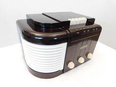 VINTAGE 1930s GEM MINT JOHN VASSOS RCA VICTOR ART DECO OLD TUBE BAKELITE RADIO   #RCA