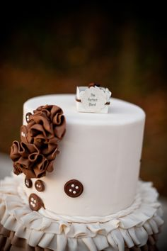"""""""The perfect Blend"""" coffee wedding inspiration and ideas- favors by Sweet Garden Creations, cake by Blue Sheep Cake Shop- Fall Wedding Inspiration Boards and ideas 