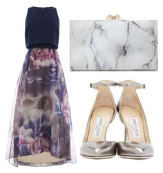 """Untitled #2809"" by evalentina92 ❤ liked on Polyvore featuring Charlotte Olympia, Jimmy Choo, women's clothing, women's fashion, women, female, woman, misses and juniors"