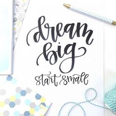 "Dreams sometimes seem too big to accomplish but it's often a long series of small steps that get us there. So just breathe 😉 and take one small step, then another & before you know it you'll be there. 💛  Sometimes learning lettering can seem SO overwhelming when you look at it but in our courses we truly start with the basics and go step-by-step. We recently had a student tell us: ""When I saw beautiful hand lettering everywhere I thought 'there's no way I can do that' but in your classes…"