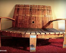 2 sillas de Adirondack de barril de vino y Set de mesa lateral