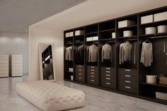 Atlante walk-in closet in grey oak Walking Closet, Closet Bedroom, Bedroom Decor, Walk In Wardrobe Design, Clothes Cabinet, Wardrobe Cabinets, Oak Wardrobe, Walk In Robe, Modern Closet