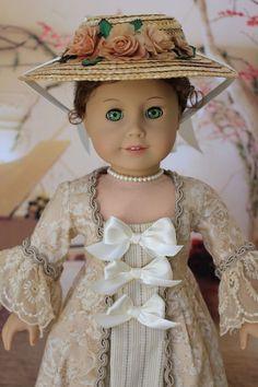 OOAK Colonial Gown Dress Cloak Ensemble American Girl Doll Felicity Elizabeth