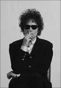 "Cate Blanchett as ""Jude Quinn"" (representing Bob Dylan circa 1966) in the 2007 movie, ""I'm Not There.""Her performance was eerie-good!"