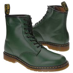 Dr. Martens 1460 8 Eye Boot Boots (Green Smooth) - Men's Boots - 4.0 M