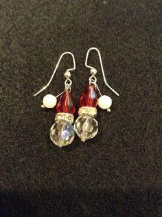 Christmas Santa Earrings by TaylorHanleyDesigns on Etsy