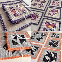 Quilted placemats.... Place Mats Quilted, Quilts, Blanket, Sewing, How To Make, Blankets, Couture, Quilt Sets, Fabric Sewing