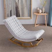 Modern Design Rocking Lounge Chair Fabric Upholstery and Wood For Home Furniture Living Room Adult Luxury Rocking Chair Chaise Living Room Chairs, Interior Design Living Room, Living Room Furniture, Home Furniture, Rustic Furniture, Lounges, Upholstered Rocking Chairs, Lounge Chair, Single Sofa