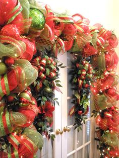 More deco mesh garlands