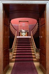 Attingham Park - looking through the Picture Gallery doors to the Nash Stairs beyond.