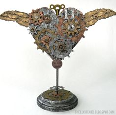 Shelly Hickox shares a tutorial on our blog today for this Steampunk Winged Heart that is perfect for Valentine's Day. Find it on our blog at: http://sizzixblog.blogspot.com/2013/01/steampunk-winged-heart.html.