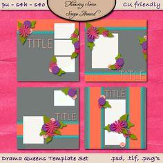 Digital Scrapbook: Layout Template Set CU by DigitalDesignsbyJodi