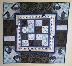 Art Quilt Political Surveillance Security State by stitchingbevy, $175.00