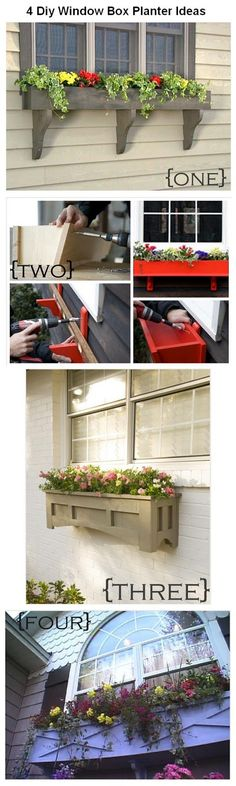 World In Green: 4 Diy Window Box Planter  maybe start building these now and someday I'll have enough for my house.