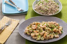 Garlic-Herb Butter Shrimp with Roasted Cauliflower & Brown Rice - Barely fed 3 when it says for 4. When making for more than 3, at least double the recipe. But VERY YUMMY!!!