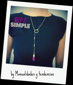 www.manualidadesytendencias.com DIY Collar con borla / Tassel necklace / Collier pompom