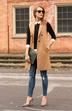 15 Trendy Sleeveless Coat Outfits 2016