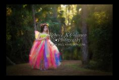 Rainbow tutu dress made by dragonslairfairyshop photos taken by Rebecca Colman