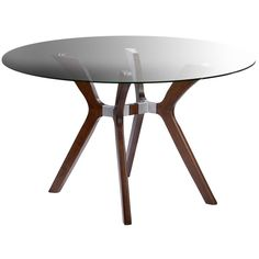 Nebraska Furniture Mart – Chintaly Round Glass Dining Table with Dark Walnut Base Dining Table Price, Glass Round Dining Table, Kitchen & Dining Room Tables, Walnut Dining Table, Glass Table, Round Glass, Dining Tables, Dining Area, Clear Glass