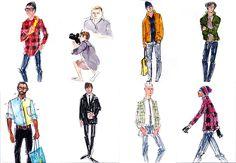 One of the best fashion illustrators Richard Haines