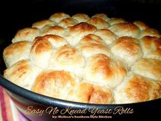 Melissas Southern Style Kitchen: Easy No Knead Yeast Rolls.GREAT FOR THE HOLIDAYS!((don't need 2 pks of yeast, dry next day, good for same day consumption)) No Yeast Dinner Rolls, Yeast Rolls, Bread Rolls, My Recipes, Bread Recipes, Cooking Recipes, Favorite Recipes, Recipies, What's Cooking