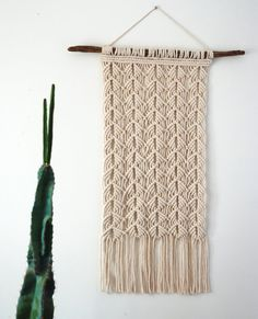 Macrame Wall Hanging // 29 x 12.5 // Woven Wall by TheVintageLoop