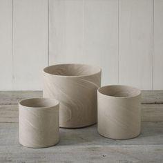 Marbleized Cylinder Planters | west elm