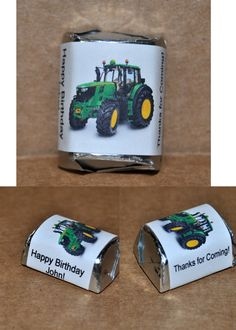 30 CUSTOMIZED John Deere Themed Labeled Chocolates  Birthday Party Favors - Kids favors - Baby Shower