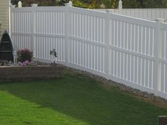 Lowes Pvc Fence - Traditionally, of installing garden fence, the main reason is to supply our property with security and p Fencing For Sale, Ranch Fencing, Vinyl Fence Panels, Urban Road, Garden Borders, Home Interior Design, Lowes, Deck, Real Estate