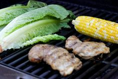 Grilled Romaine, Chicken and Corn Salad with Salsa Vinaigrette-3